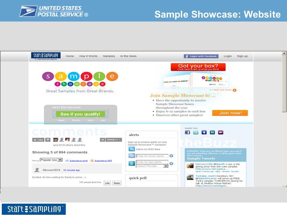 Sample Showcase: Website
