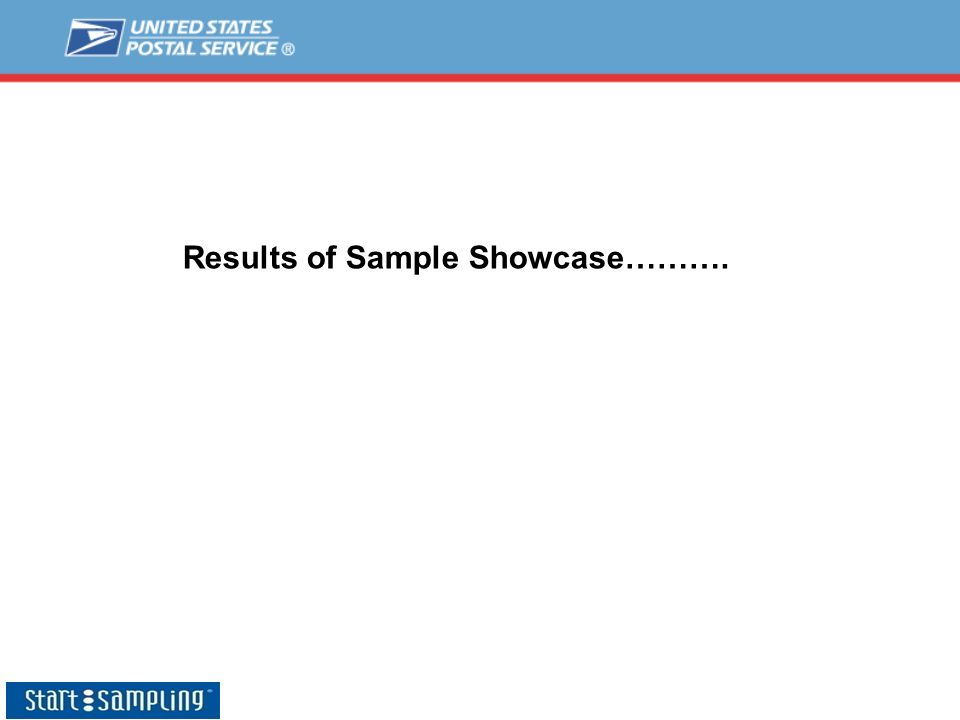 Results of Sample Showcase……….