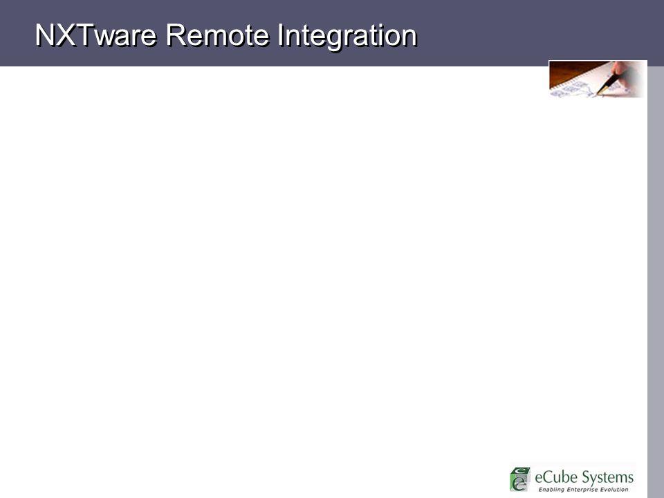 NXTware Remote Integration