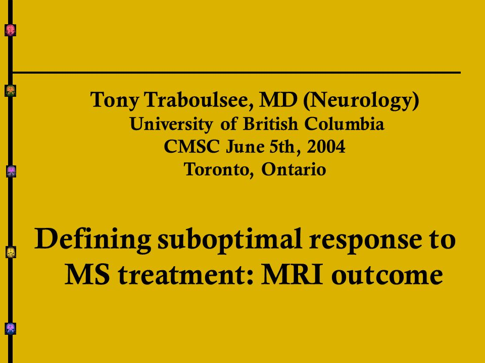 Does a single MRI Predict Relapses.