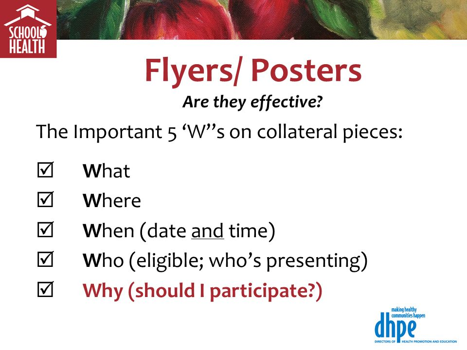 Flyers/ Posters Are they effective.