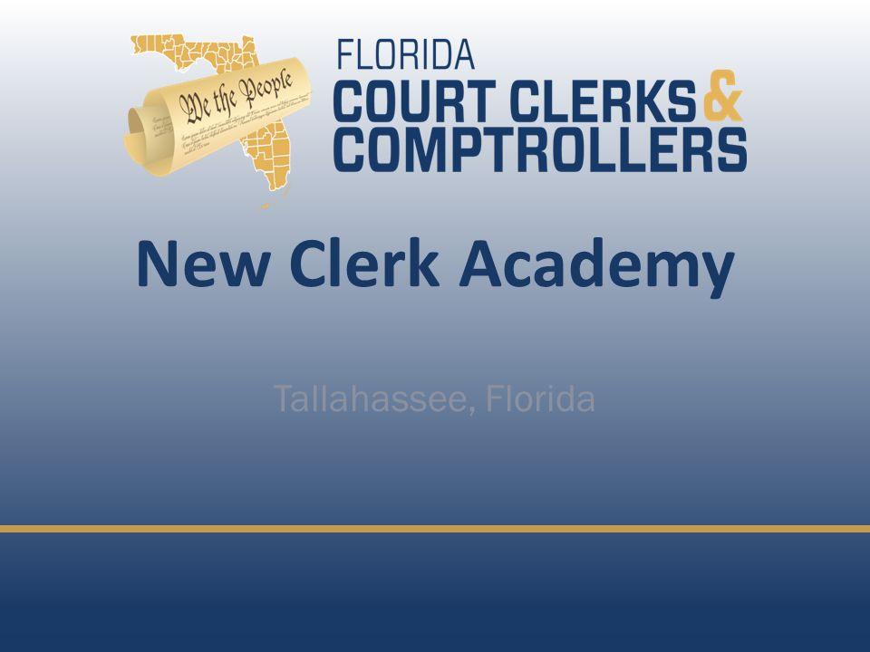 New Clerk Academy Tallahassee, Florida