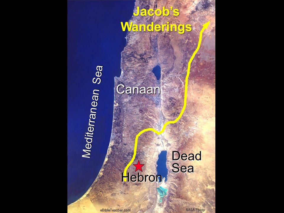 Jacobs Wanderings Mediterranean Sea Canaan Dead Sea Hebron