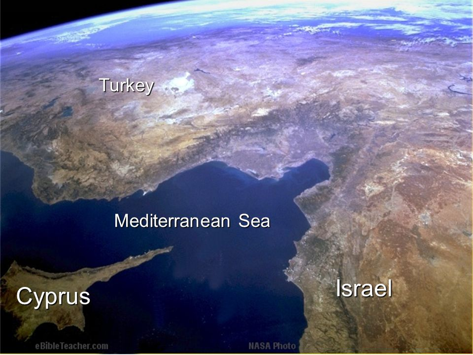 Mediterranean Sea CyprusTurkeyIsrael Noahs Ark 2