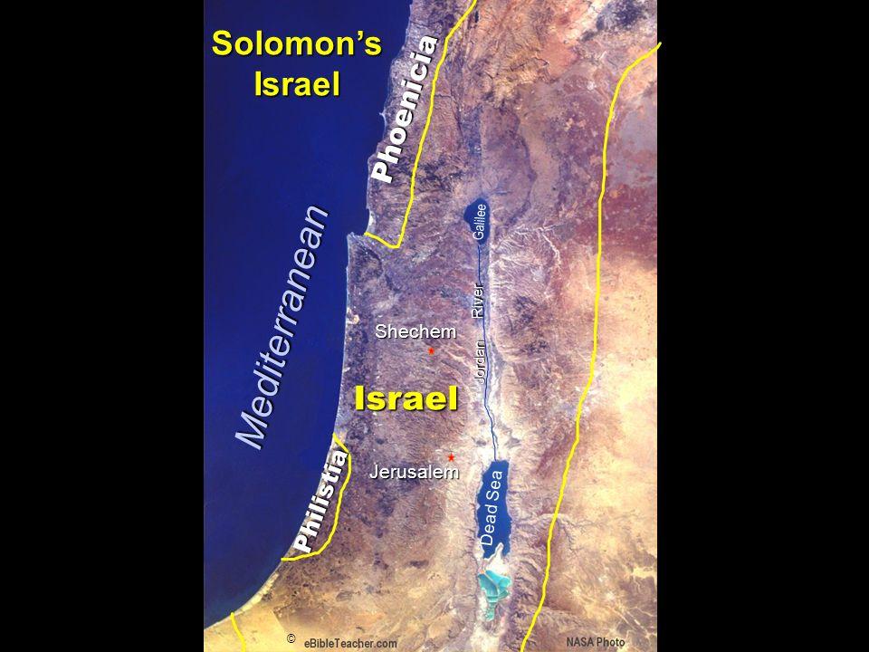 Phoenicia Israel Jerusalem Dead Sea Galilee Jordan River © Solomons Israel Shechem Mediterranean Philistia
