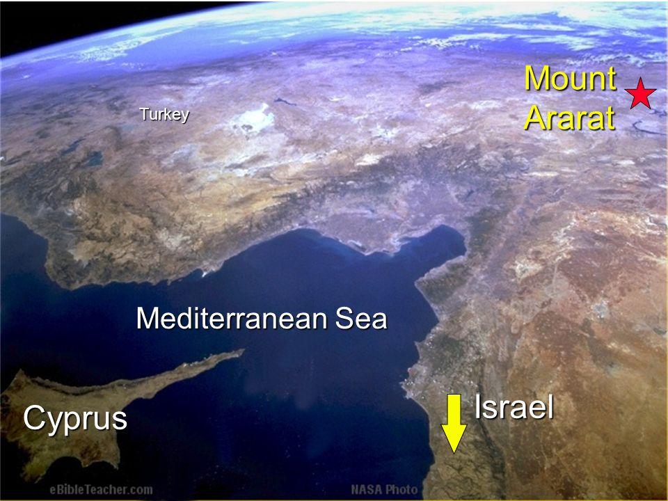 Mediterranean Sea Cyprus Turkey MountArarat Israel