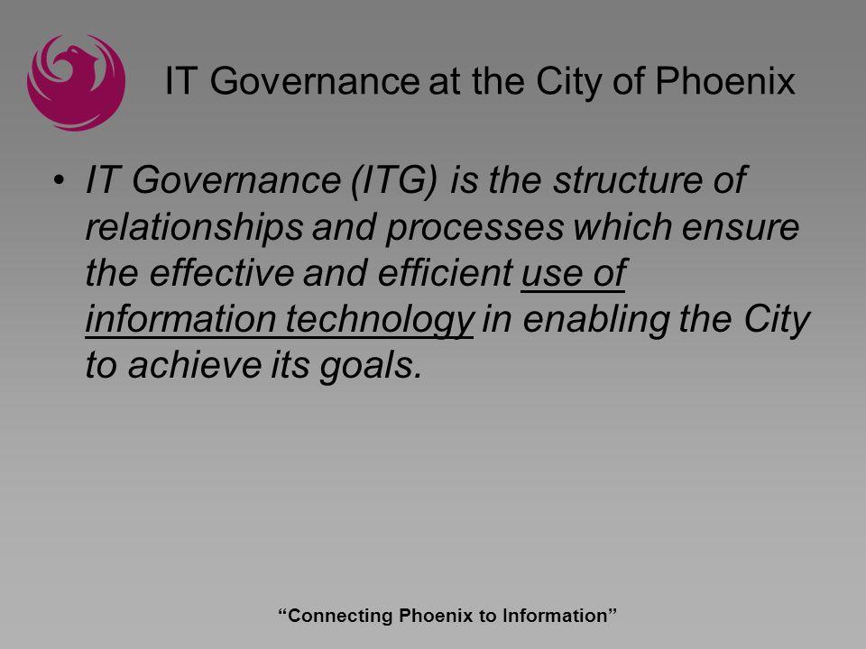 Connecting Phoenix to Information Take Aways.