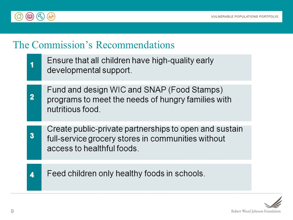 9 Ensure that all children have high-quality early developmental support.