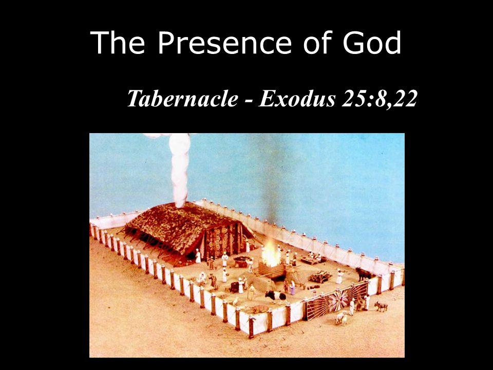 The Presence of God Tabernacle - Exodus 25:8,22
