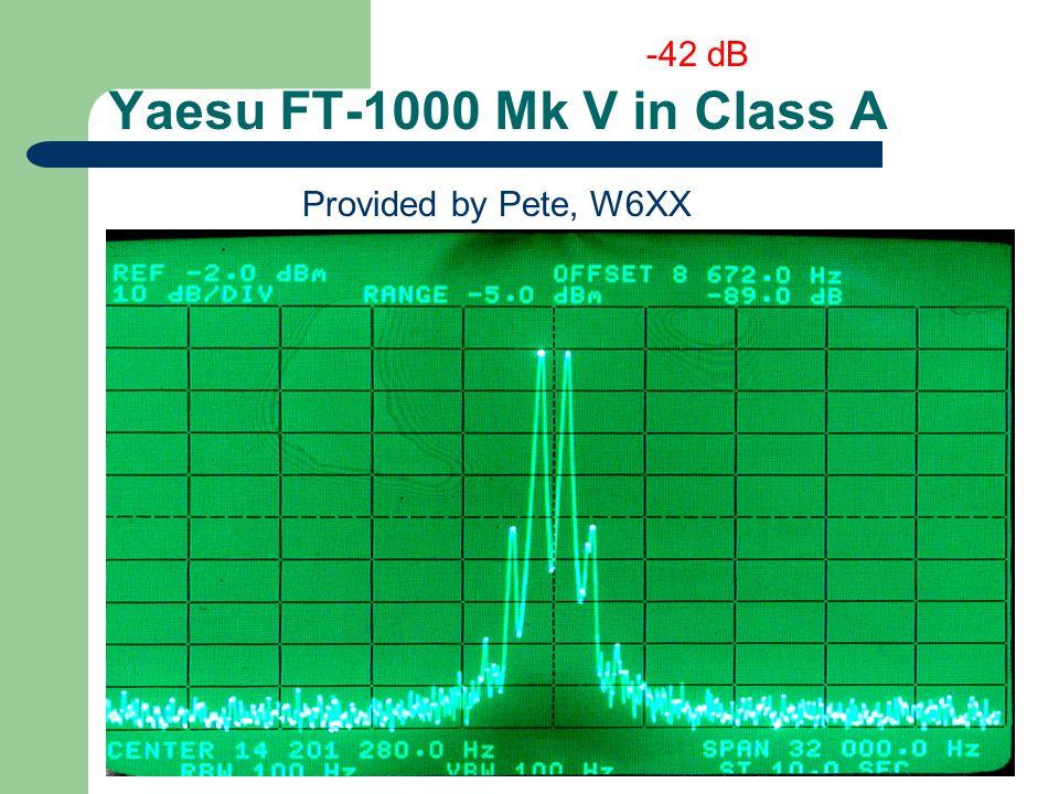 Yaesu FT-1000 Mk V in Class A Provided by Pete, W6XX -42 dB