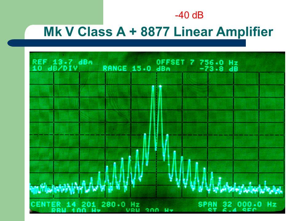 Mk V Class A + 8877 Linear Amplifier -40 dB