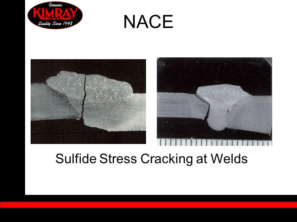 Sulfide Stress Cracking at Welds NACE