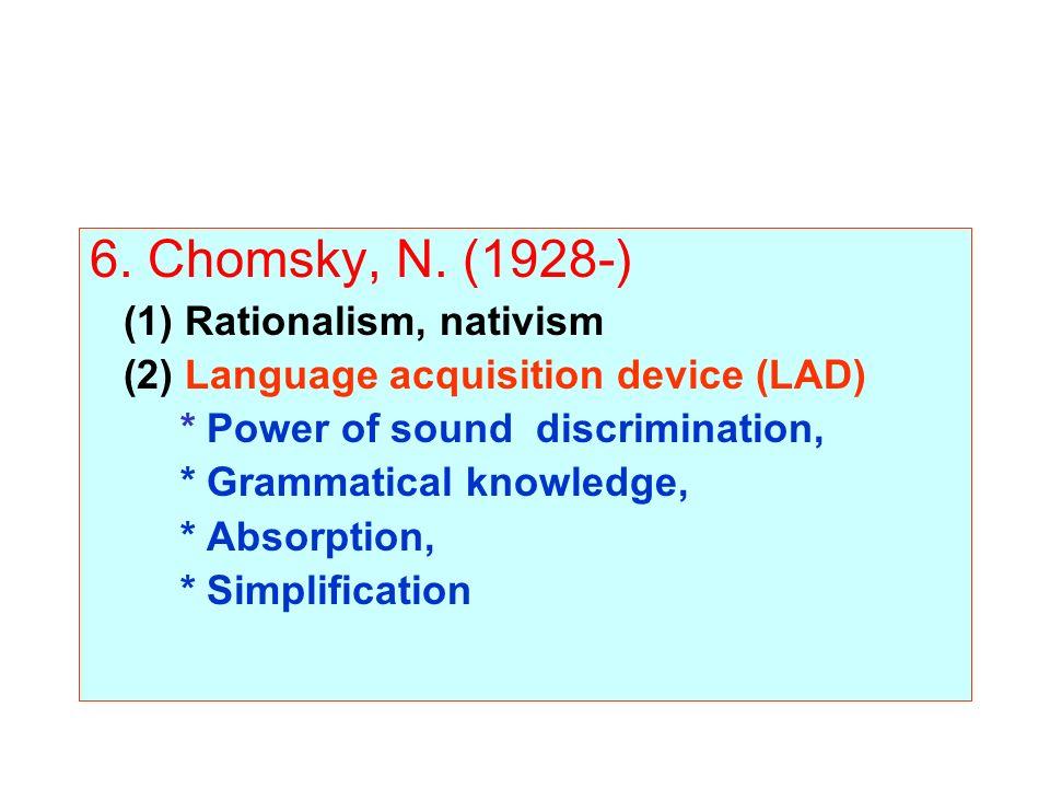 6. Chomsky, N.