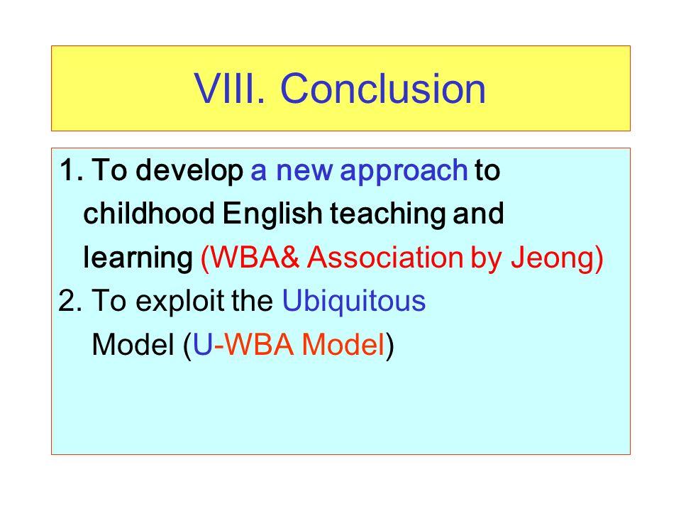 VIII. Conclusion 1.
