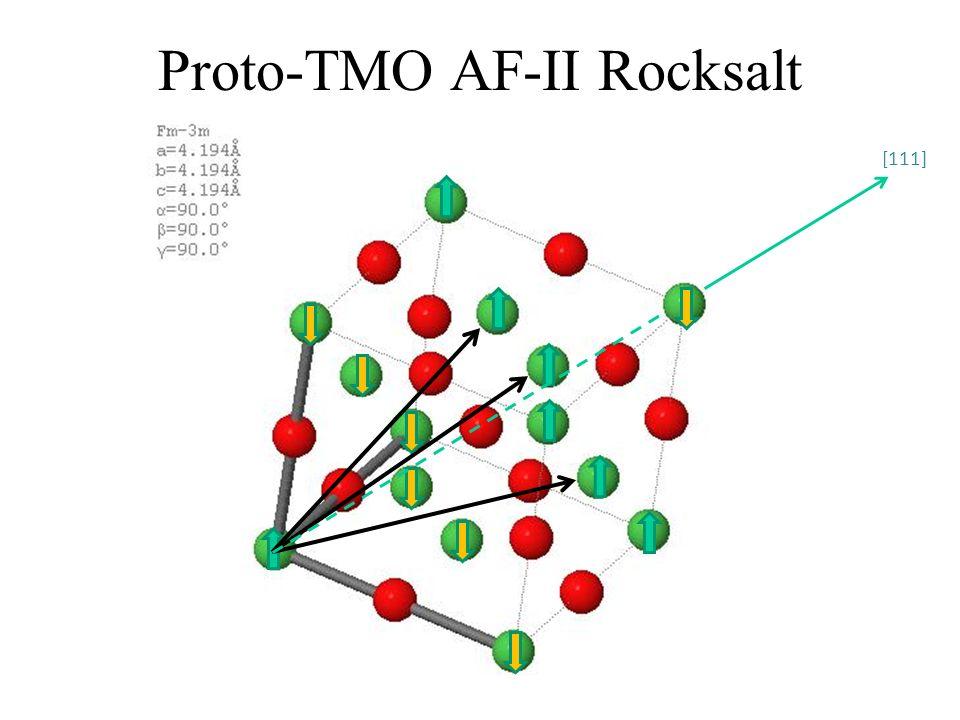 Proto-TMO AF-II Rocksalt [111]