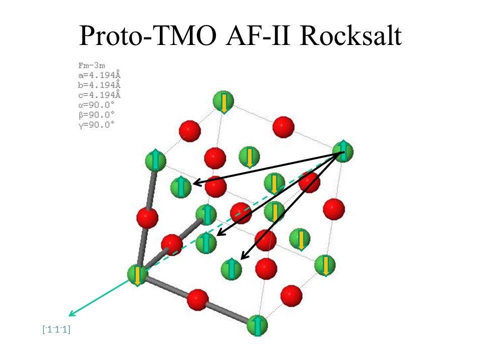 Proto-TMO AF-II Rocksalt [ - 1 - 1 - 1]