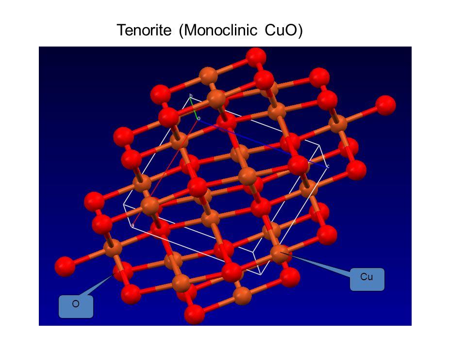 Tenorite (Monoclinic CuO) Cu O