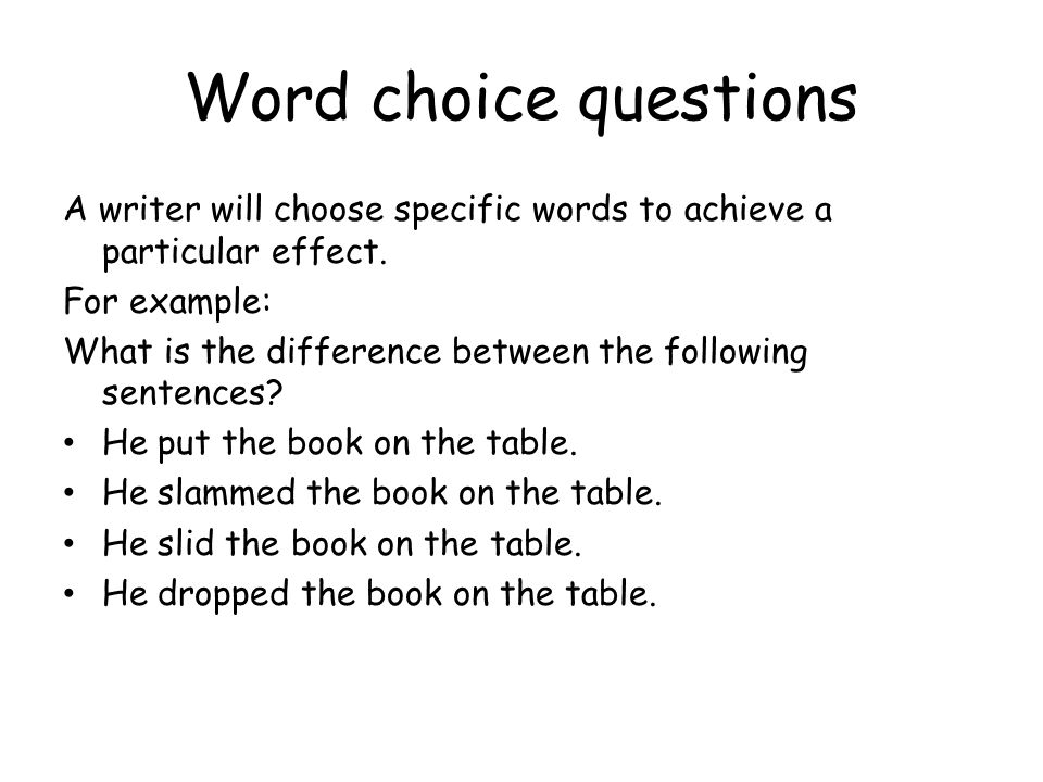 Word choice questions (from SQA General paper 2007) In this extract, 19 year old Kerri is applying for a job to ride a motorcycle on the Wall of Death.