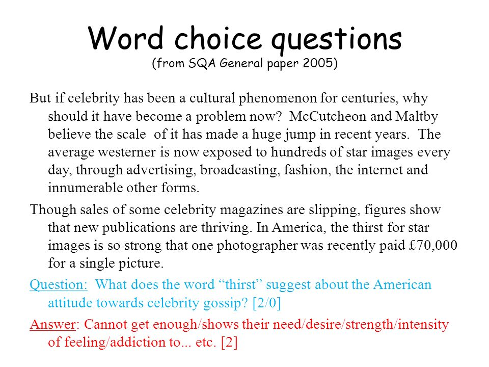 Word choice questions (from P&N General paper 2004-2005) When Mrs Partridge returned, she thrust a plate of hot mince pies under their noses.