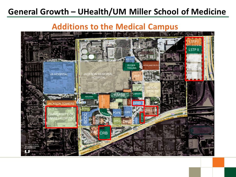 Additions to the Medical Campus General Growth – UHealth/UM Miller School of Medicine