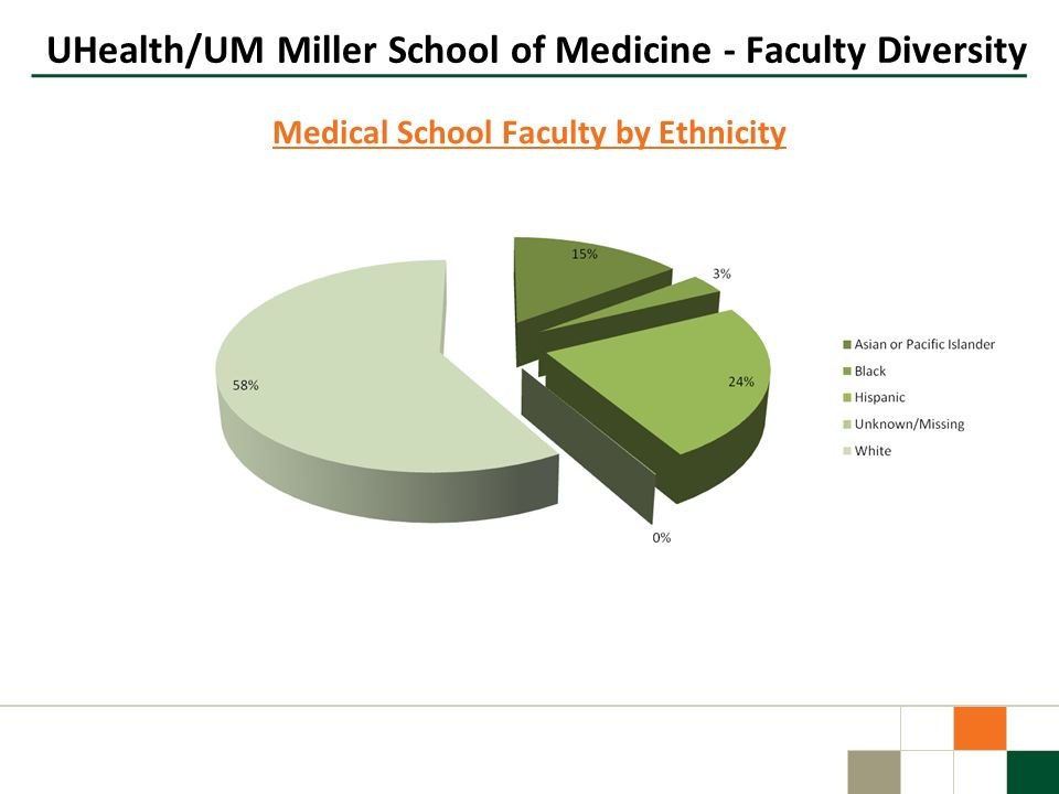 UHealth/UM Miller School of Medicine - Faculty Diversity Medical School Faculty by Ethnicity