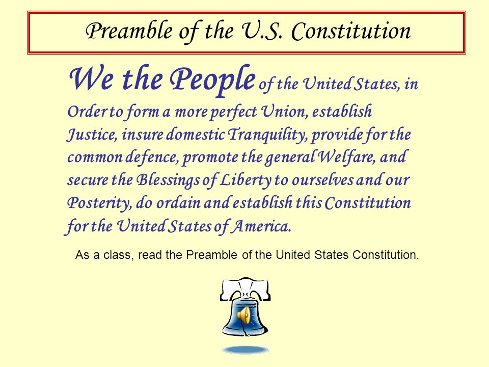 Celebrate the Constitution Today The Constitution of the United States was made not merely for the generation that then exist, but for the posterity -