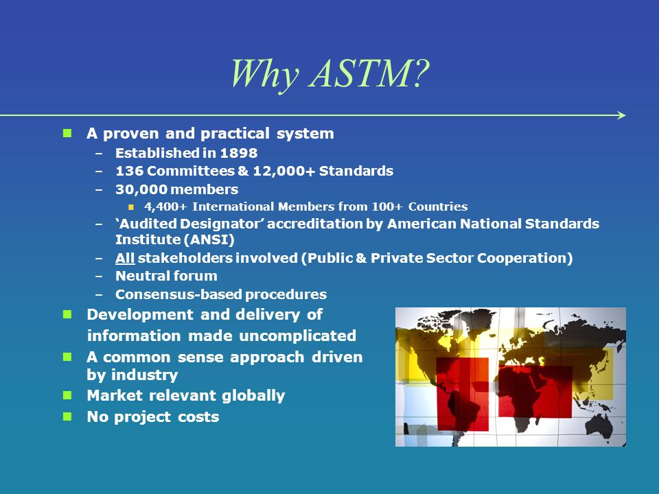 Why ASTM.