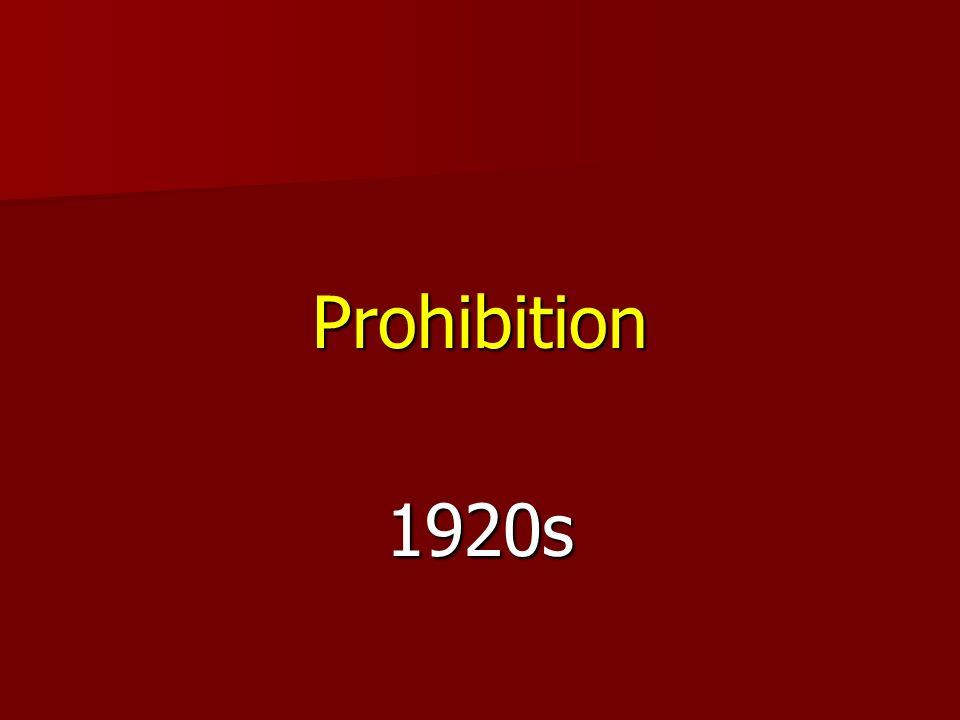 Prohibition1920s