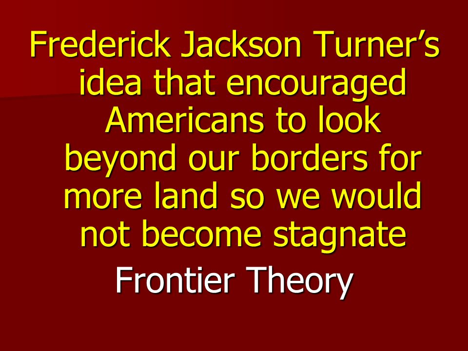 Frontier Theory