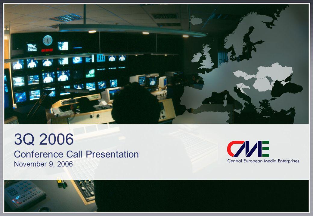 3Q 2006 Conference Call Presentation November 9, 2006