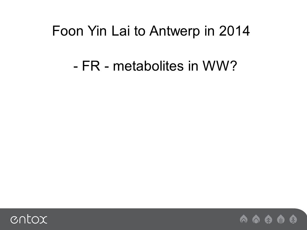 Foon Yin Lai to Antwerp in FR - metabolites in WW