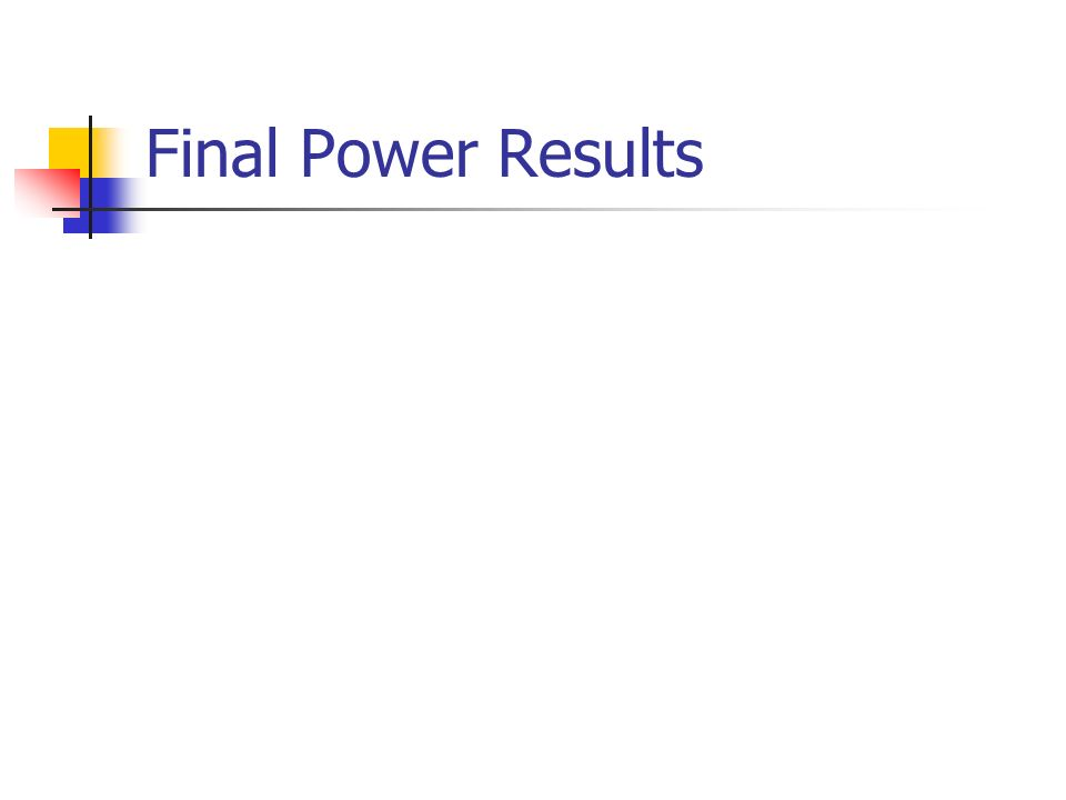 Final Power Results