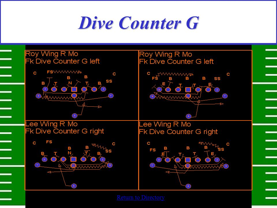 Return to Directory Dive Counter G