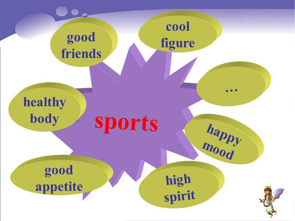 sports happy mood healthy body good appetite high spirit good friends cool figure …
