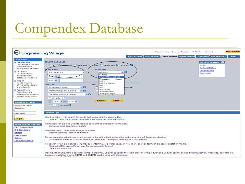 Compendex Database
