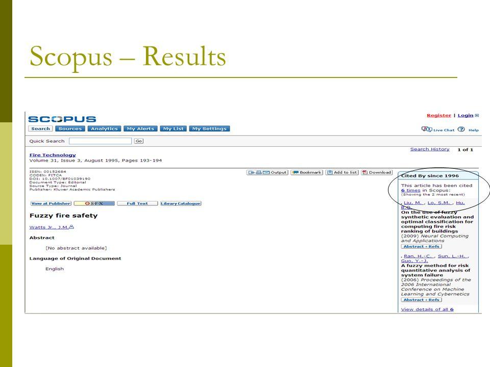 Scopus – Results