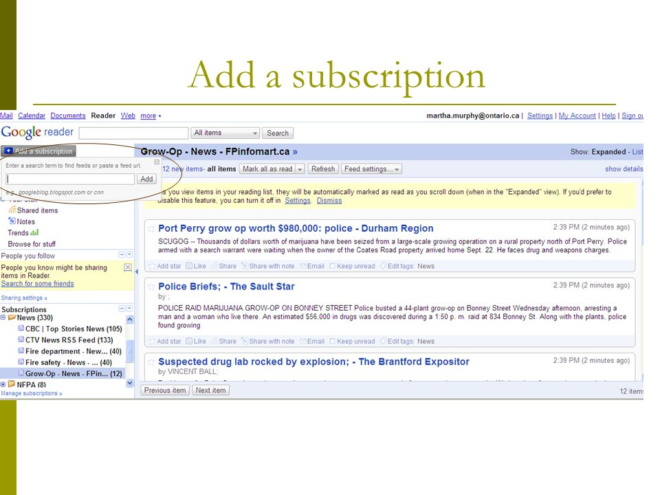 Add a subscription