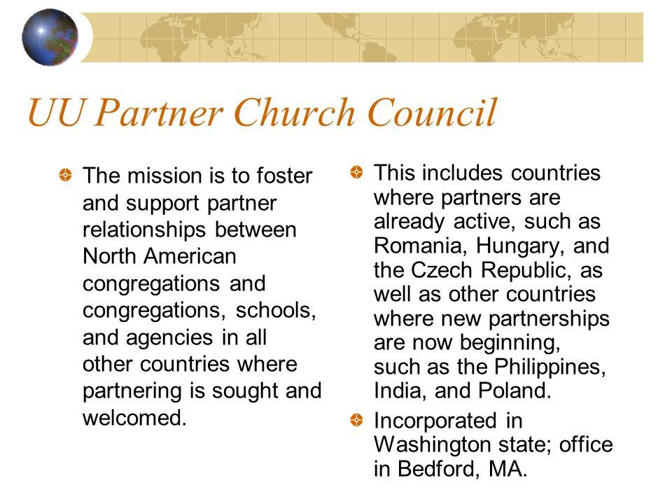 Unitarian Universalist International Organizations contribute to our Global Village
