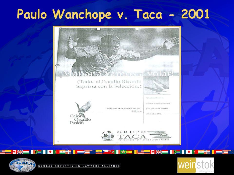 Paulo Wanchope v. Taca - 2001