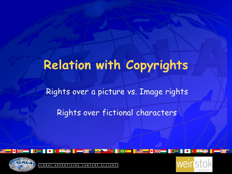 Relation with Copyrights Rights over a picture vs. Image rights Rights over fictional characters