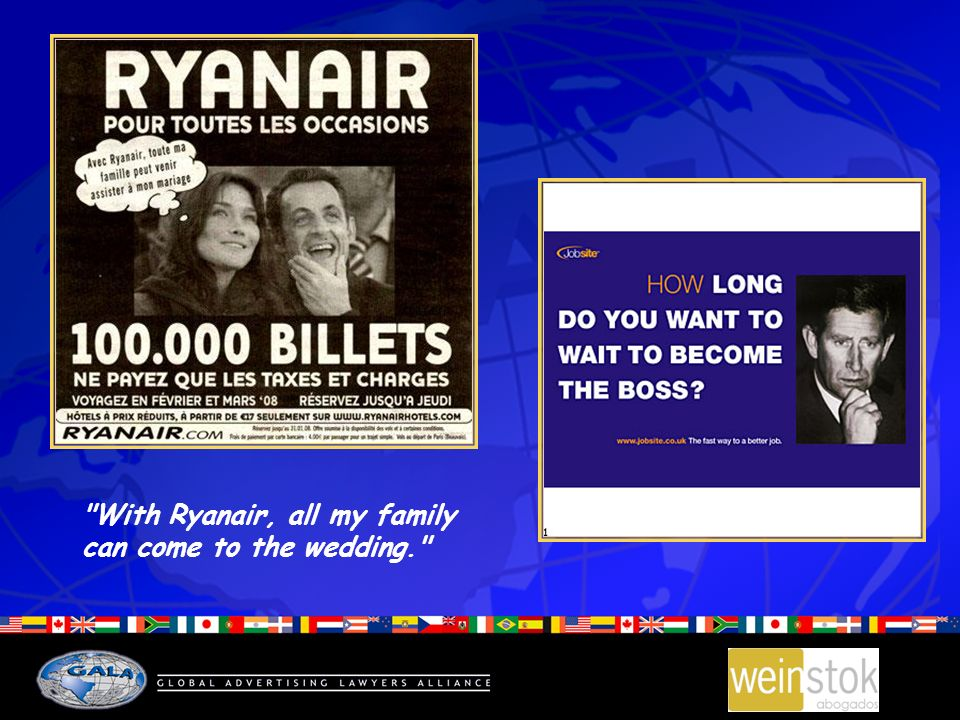 With Ryanair, all my family can come to the wedding.