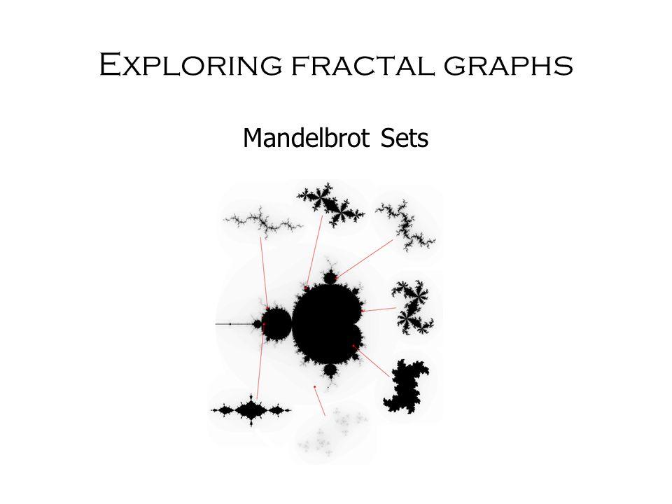 Exploring fractal graphs Mandelbrot Sets