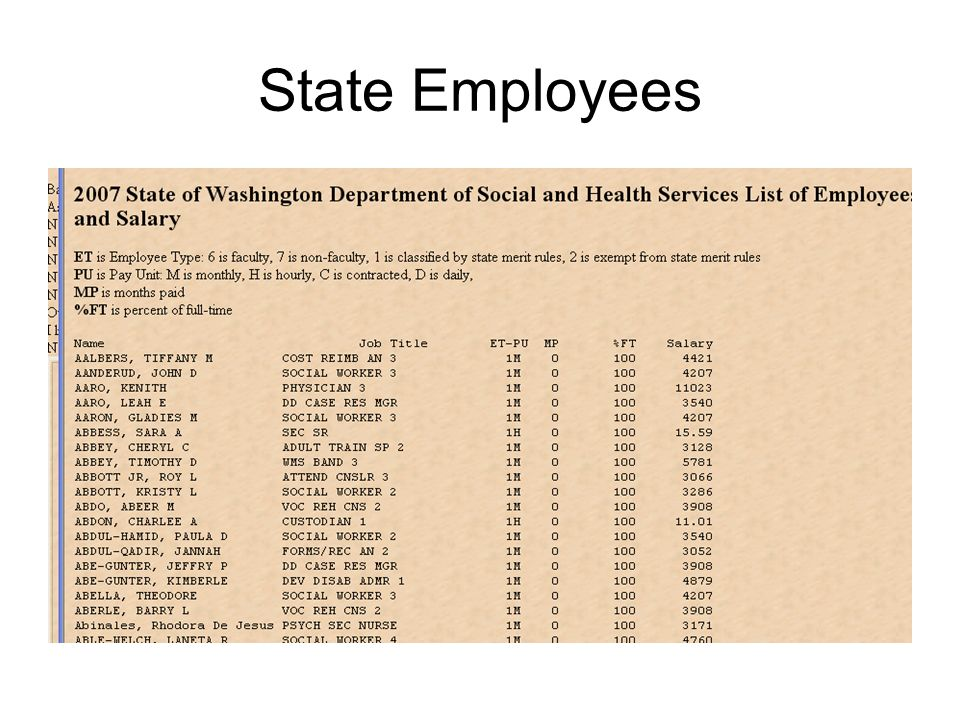 State Employees