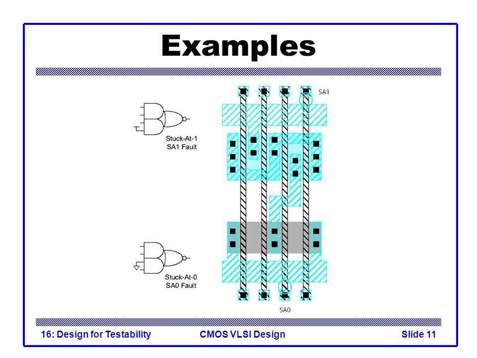 CMOS VLSI Design16: Design for TestabilitySlide 11 Examples