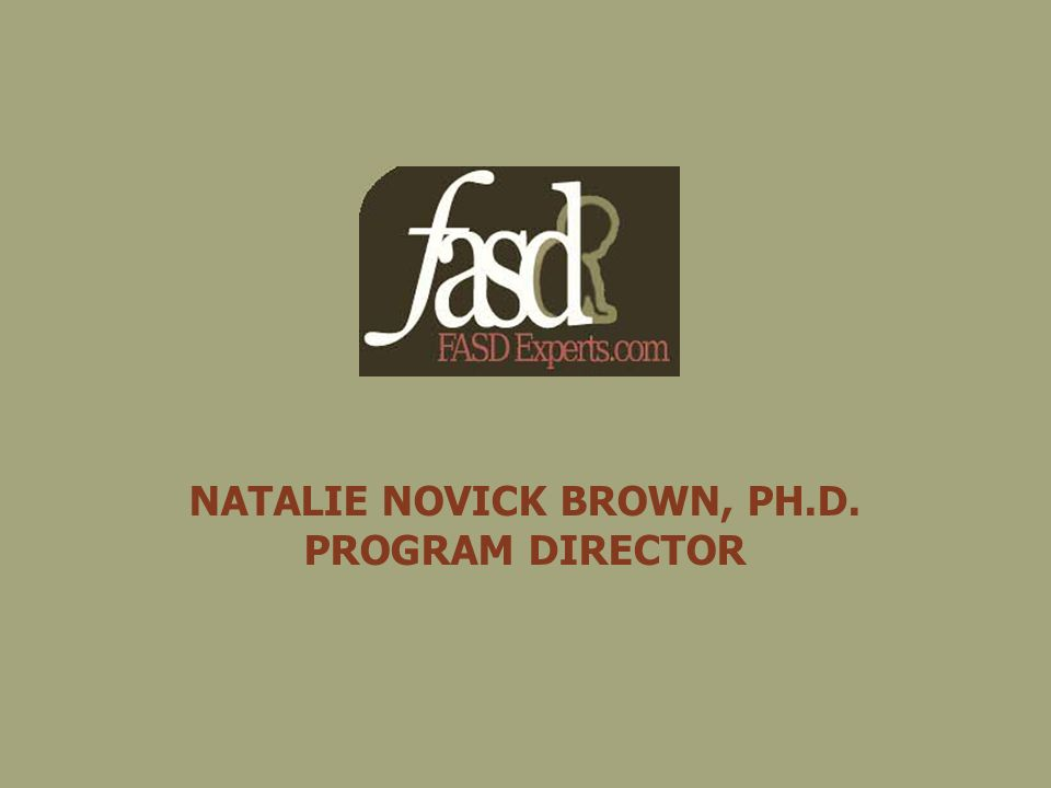 NATALIE NOVICK BROWN, PH.D. PROGRAM DIRECTOR