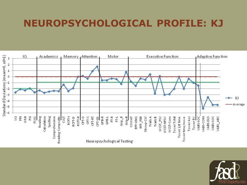 NEUROPSYCHOLOGICAL PROFILE: KJ