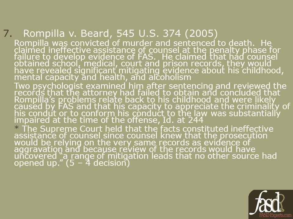 7. Rompilla v. Beard, 545 U.S.