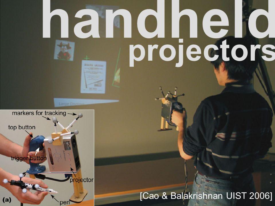 handheld [Cao & Balakrishnan UIST 2006] projectors