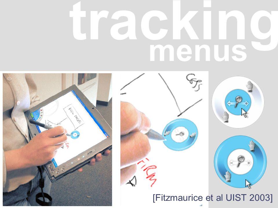 tracking menus [Fitzmaurice et al UIST 2003]