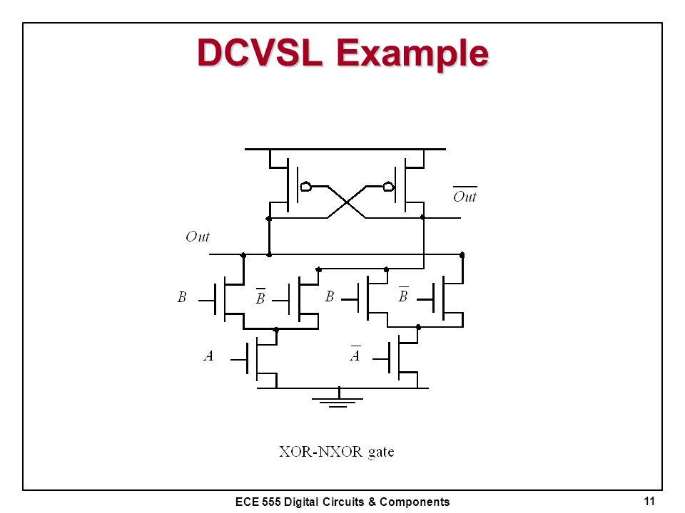 ECE 555 Digital Circuits & Components DCVSL Example 11